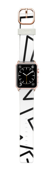Casetify Apple Watch Band (38mm) Pulsera Casetify - Abstract Geometry Stylish Lines Black and White by Denis Marsili #Casetify