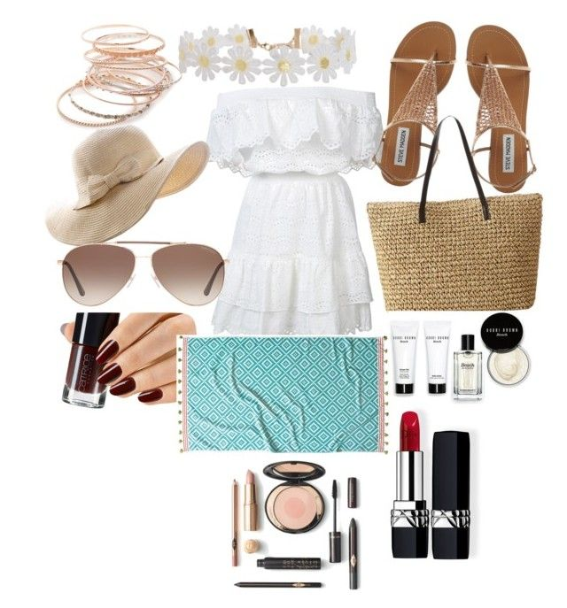 """""""Island getaway🌴🌴🌴"""" by jerseyliciousbbz ❤ liked on Polyvore featuring LoveShackFancy, Tom Ford, Red Camel, Humble Chic, Christian Dior, Bobbi Brown Cosmetics and John Robshaw"""