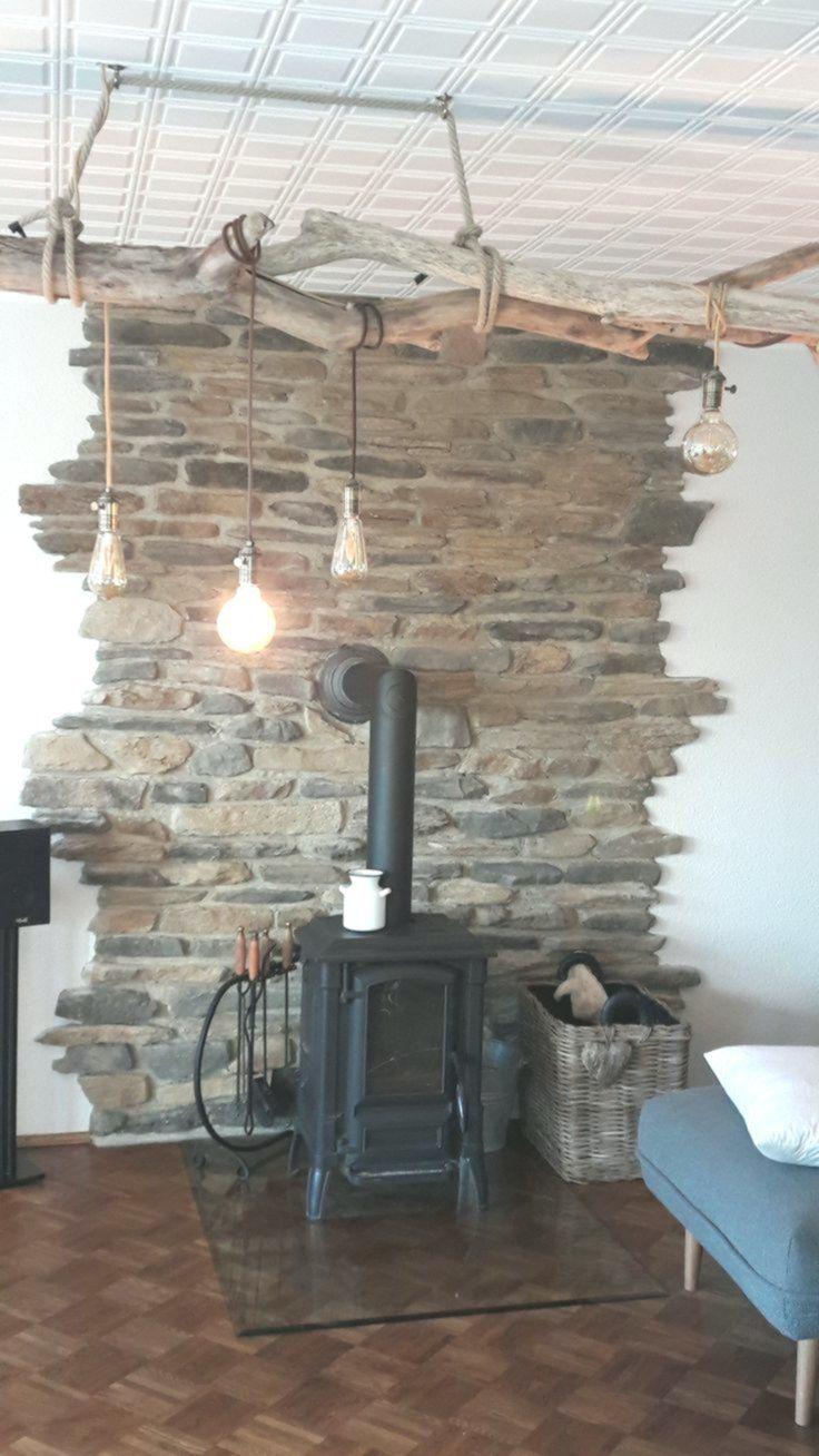 Photo of landhaus steinwand wohnzimmer gemütliches haus leben steinwand