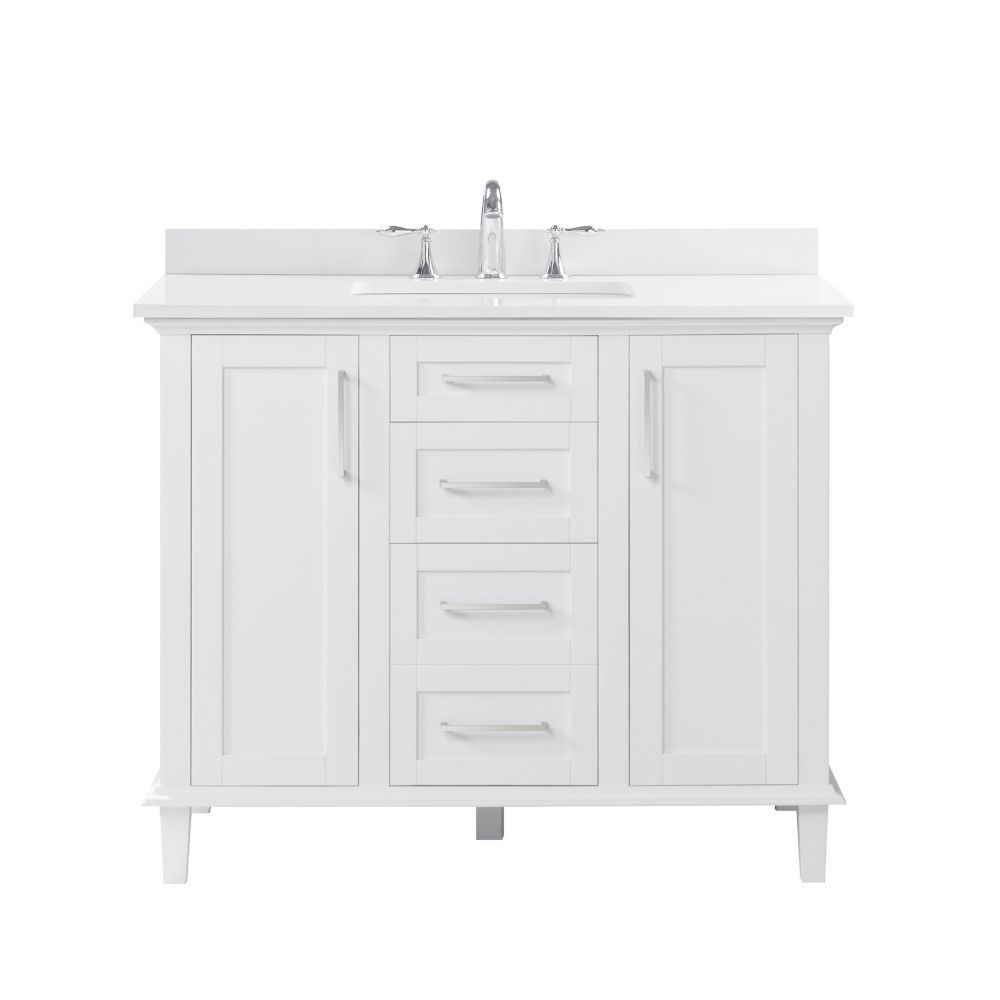 With The Alma 42 Inch Vanity By Ove Decors Your Bathroom Will