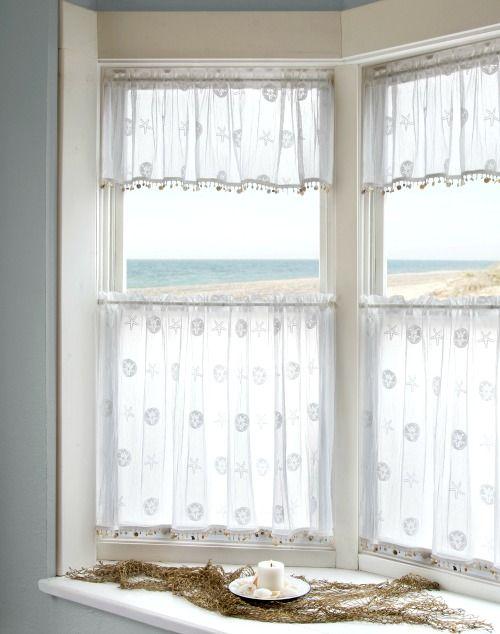 Coastal Nautical Window Treatments Curtains Valance Beach