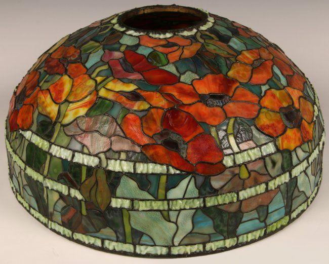 richard a bennett jr tiffany lamp shade oriental poppy