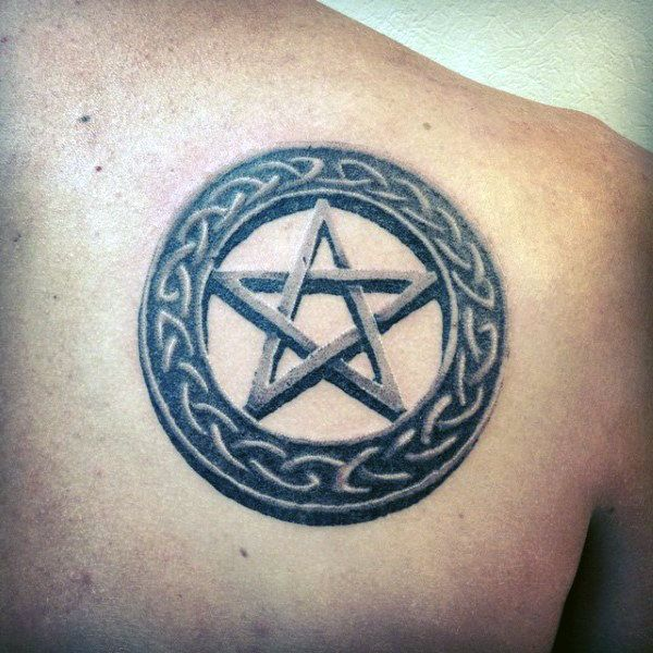 50 Pentagram Tattoo Designs For Men Five Pointed Star Ideas 5