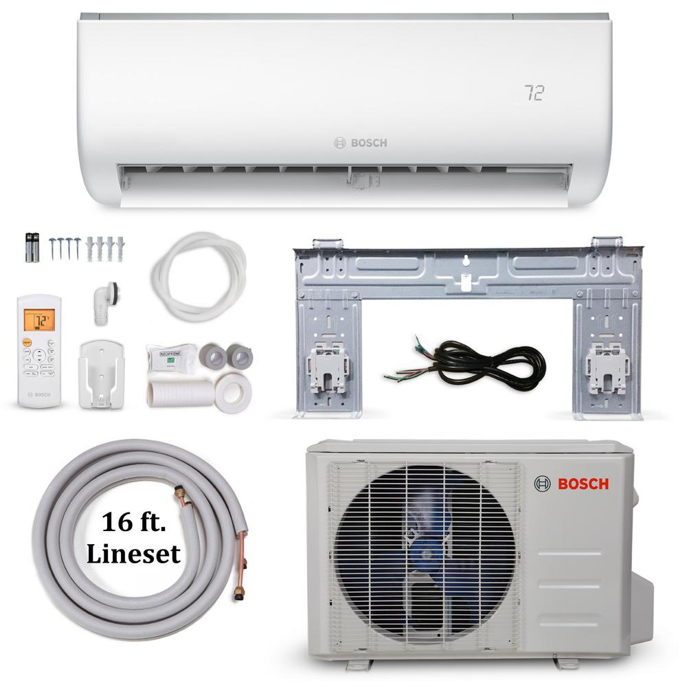 Bosch Climate 5000 Energy Star 24 000 Btu 2 Ton Ductless Mini Split Air Conditioner And Heat Pump 230 Volt 60 Hz Heat Pump Air Conditioner With Heater Heat Pump System