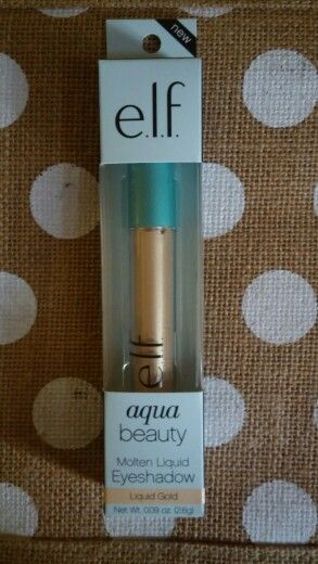 New Elf Aqua beauty molton liquid eyeshadow. Liquid Gold