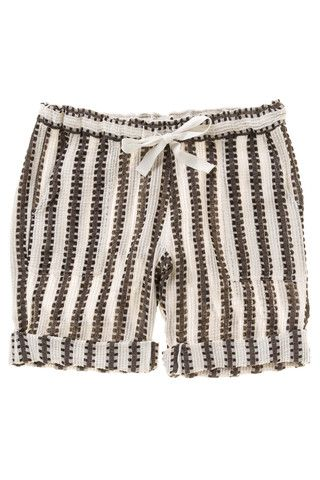 b04afbfe2b59 Elsabet Shorts by lemlem. Drawstring shorts from textured cotton that  highlight lemlem s signature handwoven production and colorful stripe  patterns.