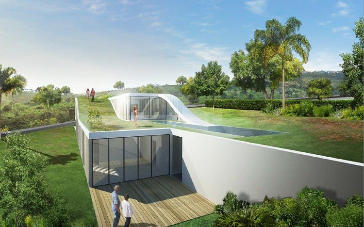 green roof design pictures ideas for home and city: Modern And Futuristic Roof Garden Design In Modern House ~ olpos.com Home decoration Inspiration