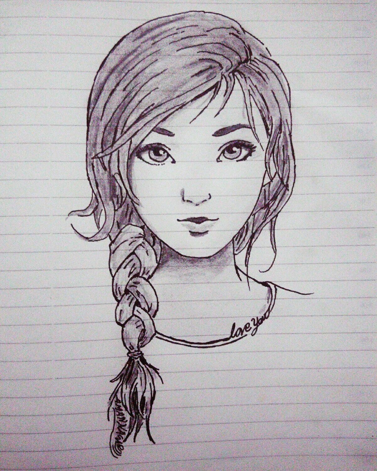 Cute Girl Sketch Beautiful Girl Sketch Girl With Beautiful Eyes