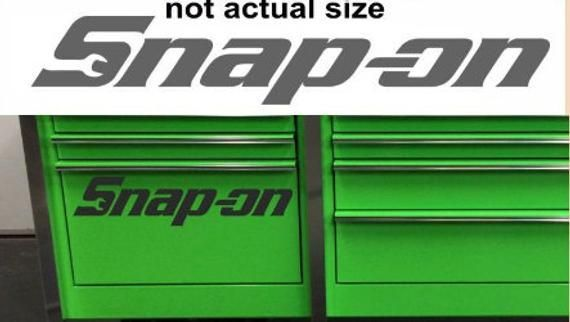 SNAPON 580mm x 100mm  garage  van  car  toolbox  workshop  door  bumper  window  sticker  decal  graphic100mm