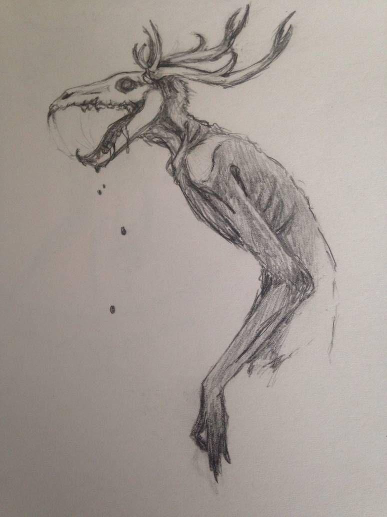 Wendigo By Lazarusfrankenstein On Deviantart In 2020 Creepy