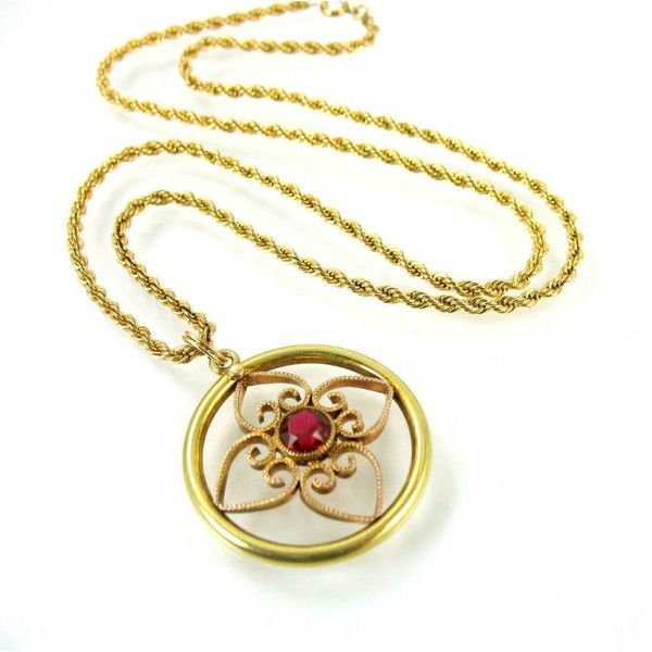 Victorian revival two tone gold filled quatrefoil pendant necklace victorian revival two tone gold filled quatrefoil pendant necklace 72 liked on polyvore featuring jewelry and necklaces aloadofball Choice Image