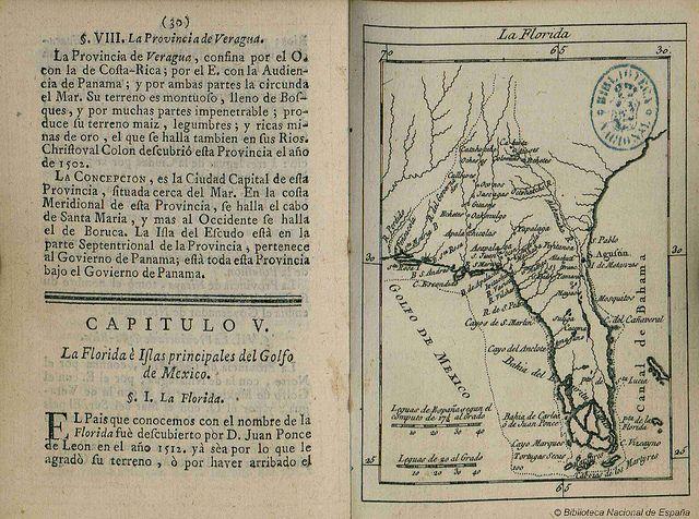 Florida Estados Unidos 1758 Biblioteca Nacional De España Historical Maps Map