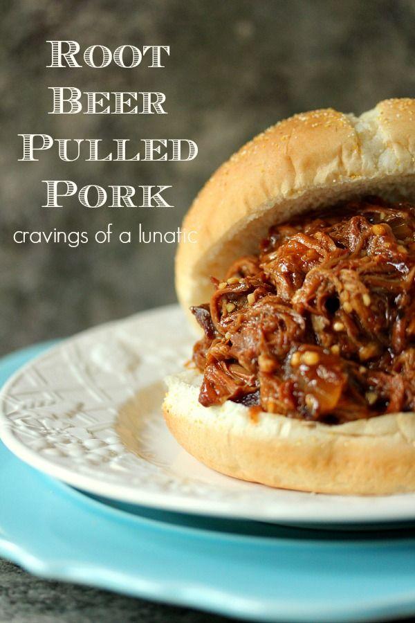 Root Beer Pulled Pork   Cravings of a Lunatic   Simple recipe to make Root Beer Pulled Pork in your Slow Cooker.