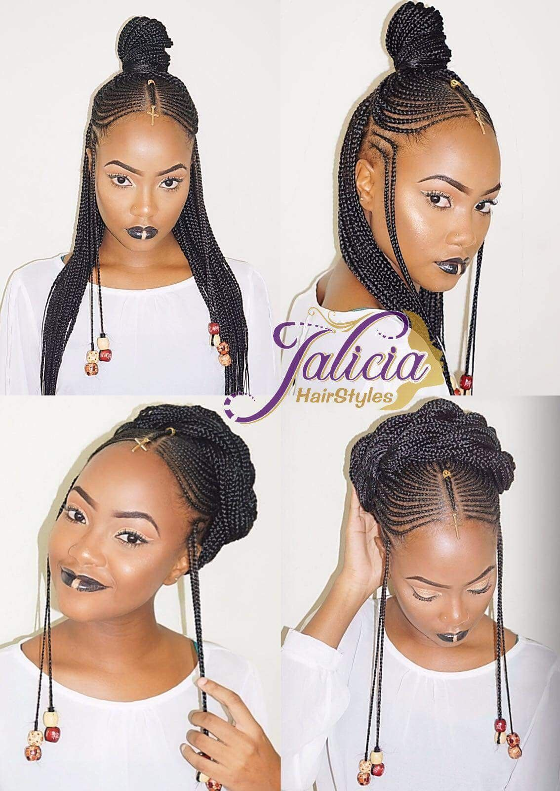 Picture 4 Of 11 101 Best Black Braided Hairstyles 2017 Black Braided Hairstyles Straight Natural Hair Styles African Braids Hairstyles Braids For Black Hair