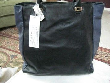 MARNI Tote in BLACK AND BLUE