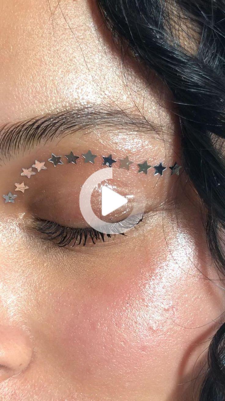 Silver Glitter hvězda Makeup tendeskin Silber Glitter