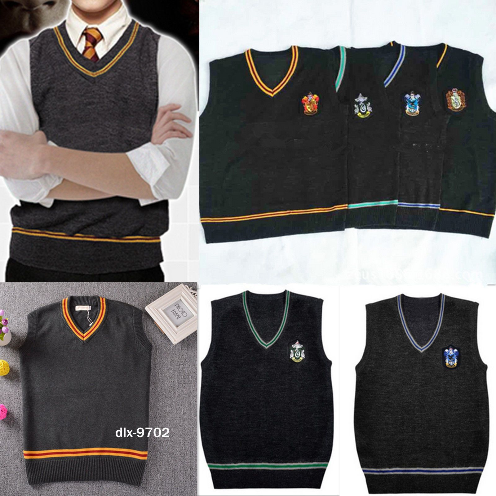Fancy Hogwarts Uniform Dress Harry Vest Cosplay Potter School W9YD2HeIE