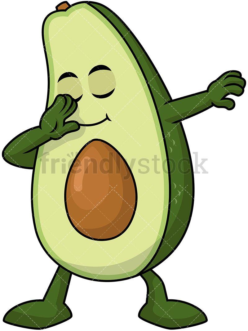 Dabbing Avocado in 2019 | idk | Avocado cartoon, Vector ...