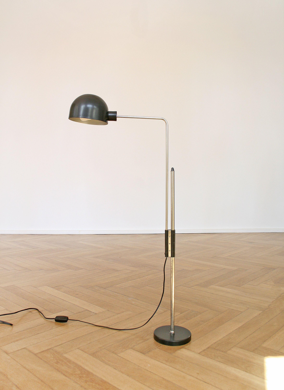 Vintage Adjustable Polam Floor Lamp Industrial Retro Silver Etsy Lamp Floor Lamp Modern Loft