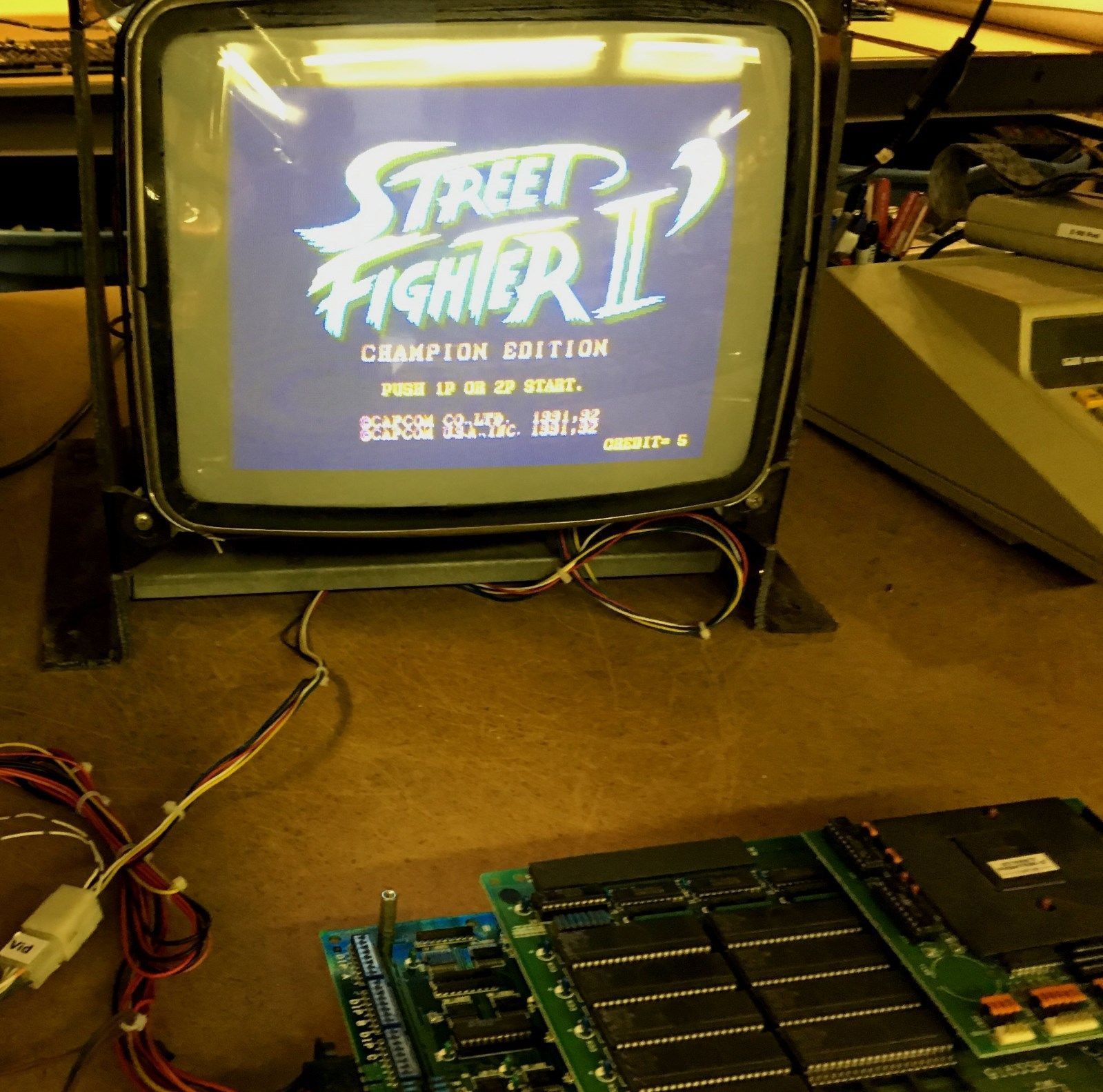 Street Fighter Ii Champion Edition Capcom Jamma Arcade Circuit Board Pcb Works Street Fighter Ii 2 Million Dollars Circuit