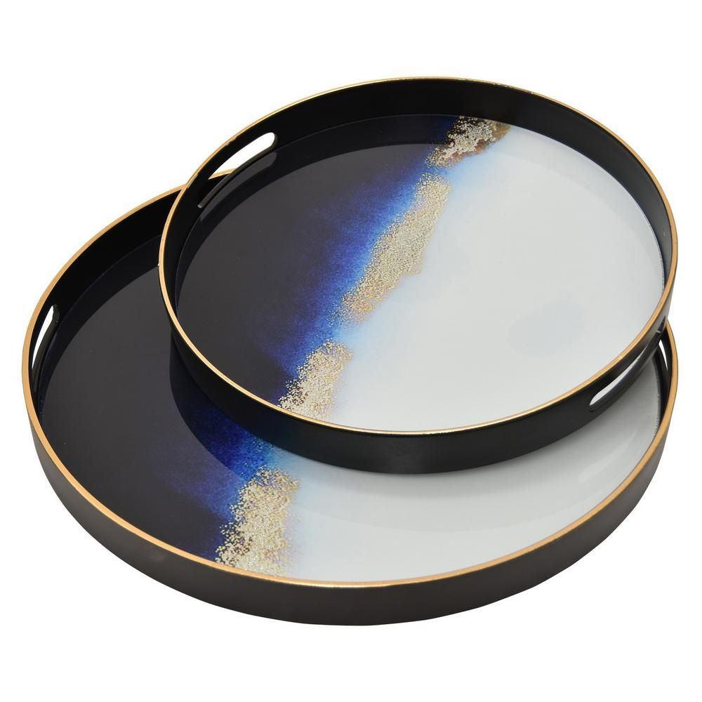 Colorful Modern Serving Tray with Handles Resin Tray  Centerpiece Table CenterpieceCheeseboardArt Centerpiecebath tray