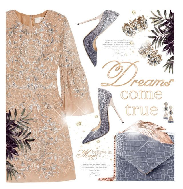 """""""Dreams come True"""" by kearalachelle ❤ liked on Polyvore featuring ALDO, RALPH & RUSSO, Marchesa and Jimmy Choo"""