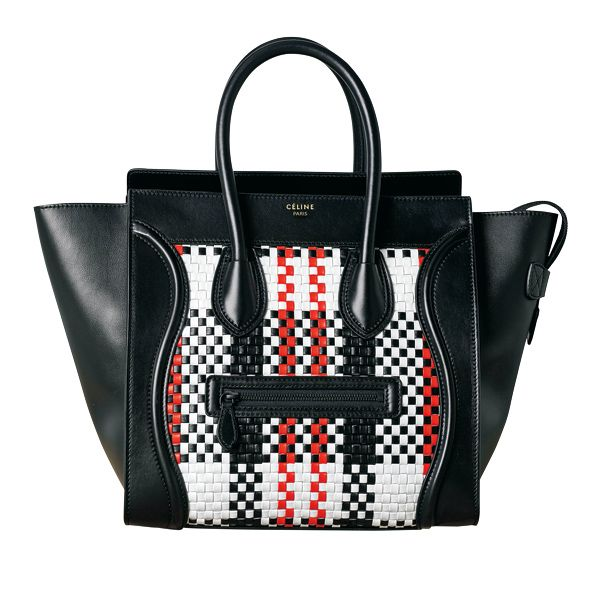 4dd9358acd Celine luggage in woven leather tartan