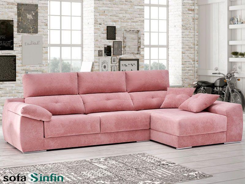 Sofá relax con chaise-longue relax Memory de Acomodel en Sofassinfin ...