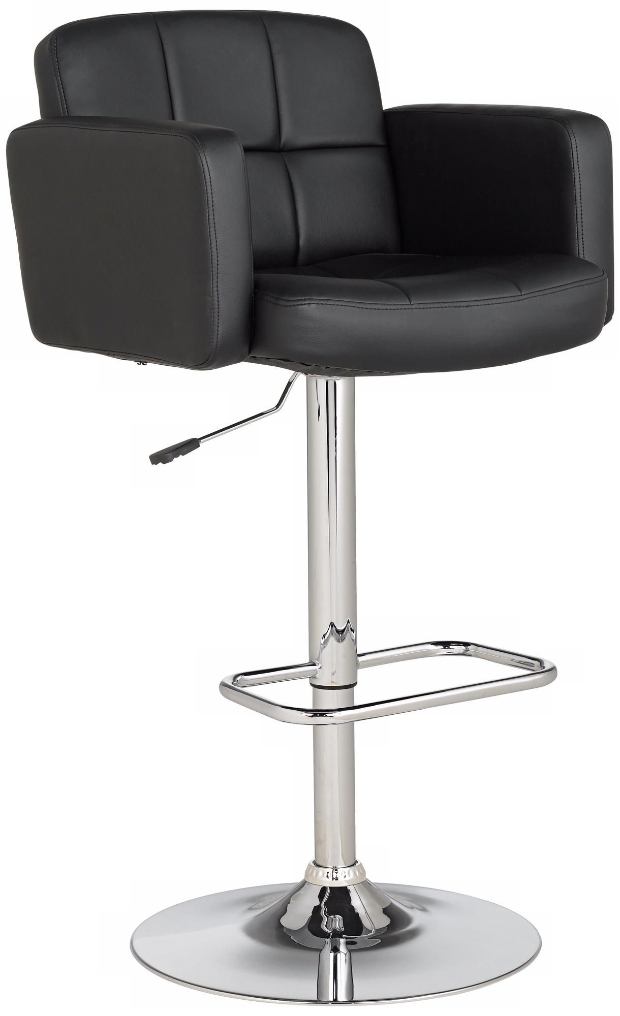 Incredible Trek Large Black Faux Leather Adjustable Swivel Bar Stool Inzonedesignstudio Interior Chair Design Inzonedesignstudiocom