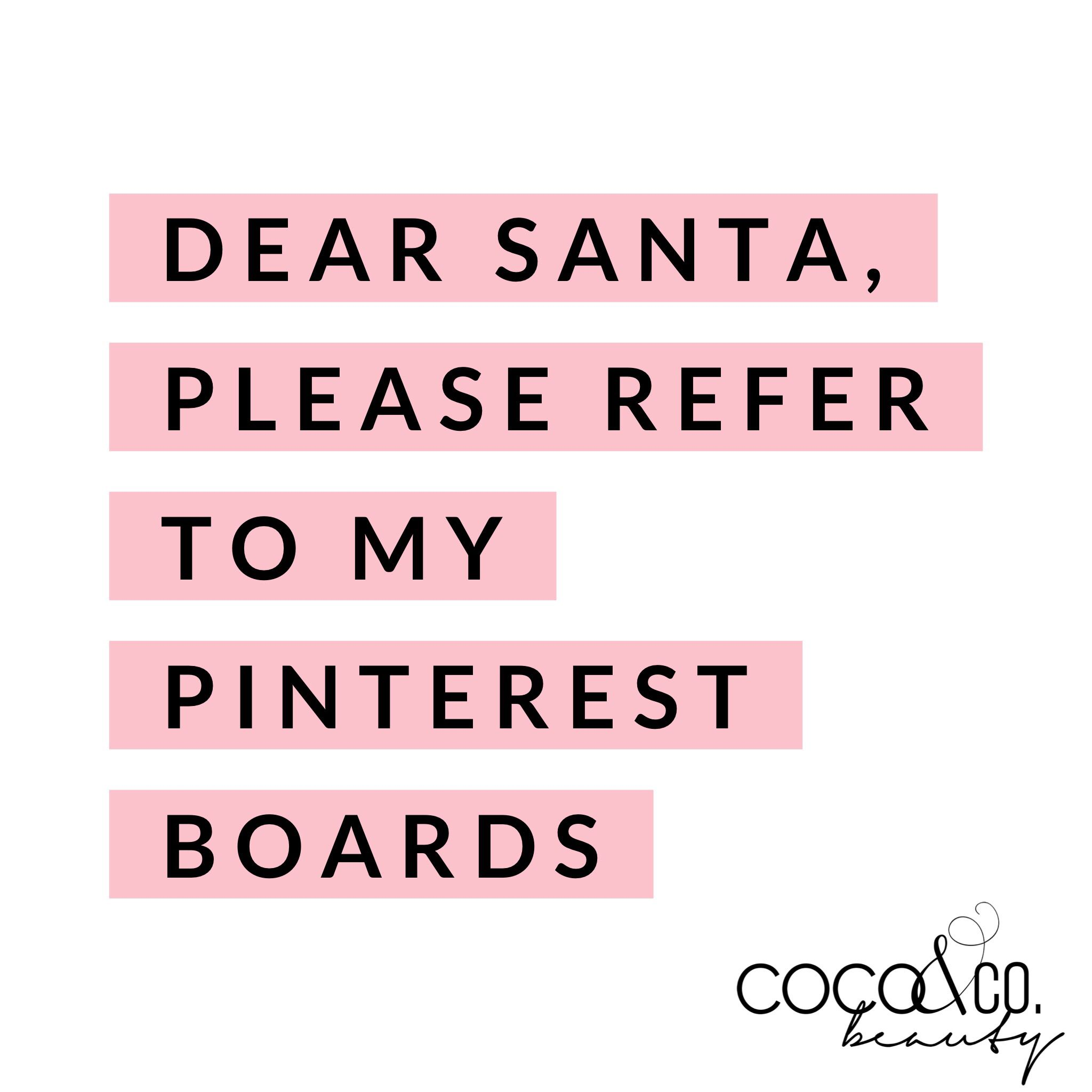Pinterest quote, santa quote, holiday quote, coconut oil ...