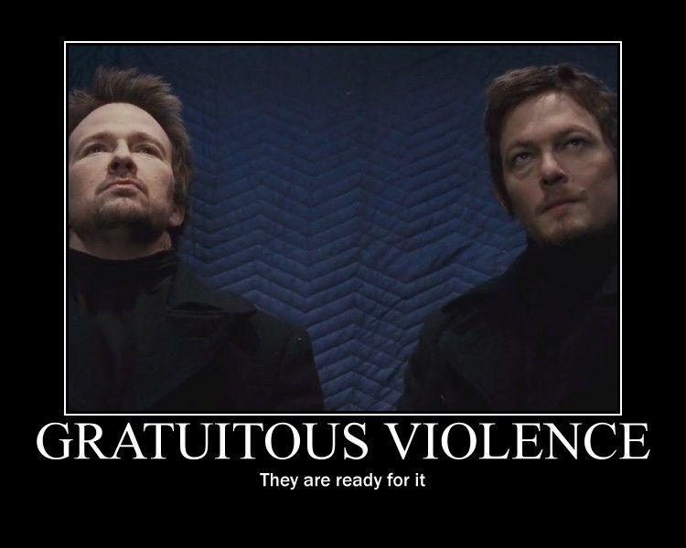 Gratuitous Violence by irishartemis on deviantART