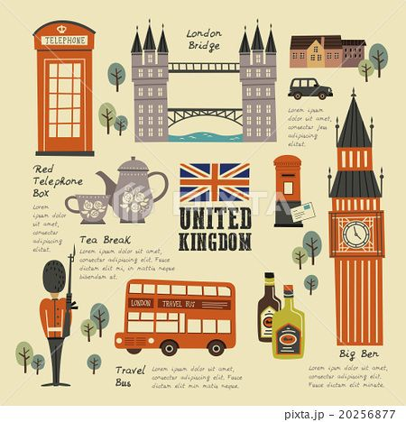 ロンドンのイラスト素材集 旅行イラスト イラスト ベクターイラスト