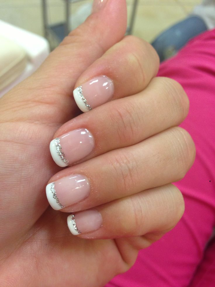 colored french tip nails   Manicure   Pinterest   Prom ...