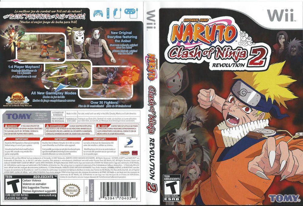 Naruto Clash Of Ninja Revolution 2 Nintendo Wii Complete Vg Naruto Wii Nintendo Wii