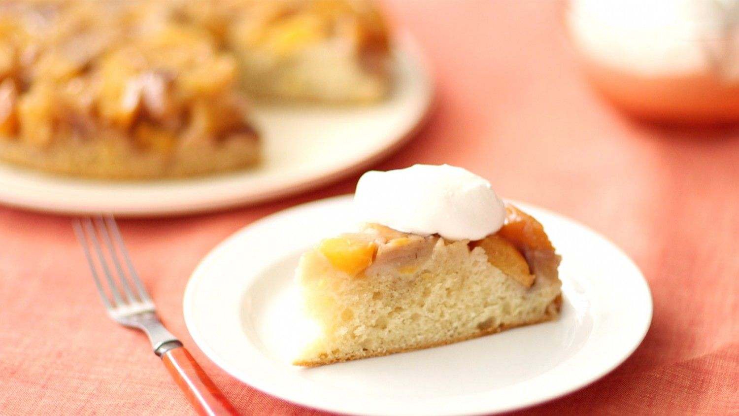 Sarah Carey uses fresh nectarines for this fruity and delicious Nectarine Upside Down Cake. It's the perfect dessert for your next weekend brunch, enjoy!