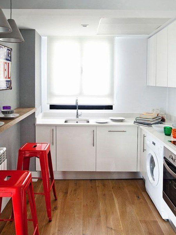 Barra para desayunar en cocina pequeña   Cocina   Pinterest   Cocina ...