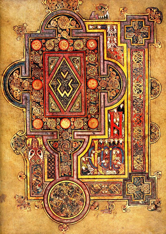 page in book of kells books pinterest book of kells books and celtic art. Black Bedroom Furniture Sets. Home Design Ideas