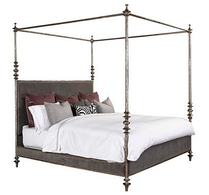 Lafayette Metal Canopy Bed King From The 1945 Collection By Henredon Furniture