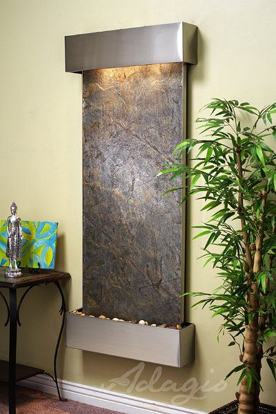 For just 1799 you can enjoy this wall mounted water - Wall mounted water feature ...