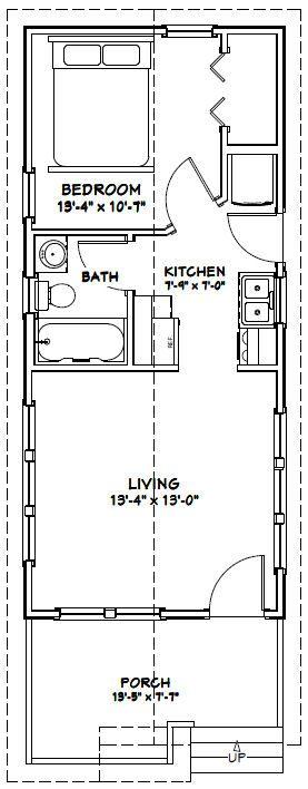 14x32 Tiny House 14x32h1g 447 Sq Ft Excellent Floor Plans Floor Plans Garage Floor Plans Tiny House Floor Plans