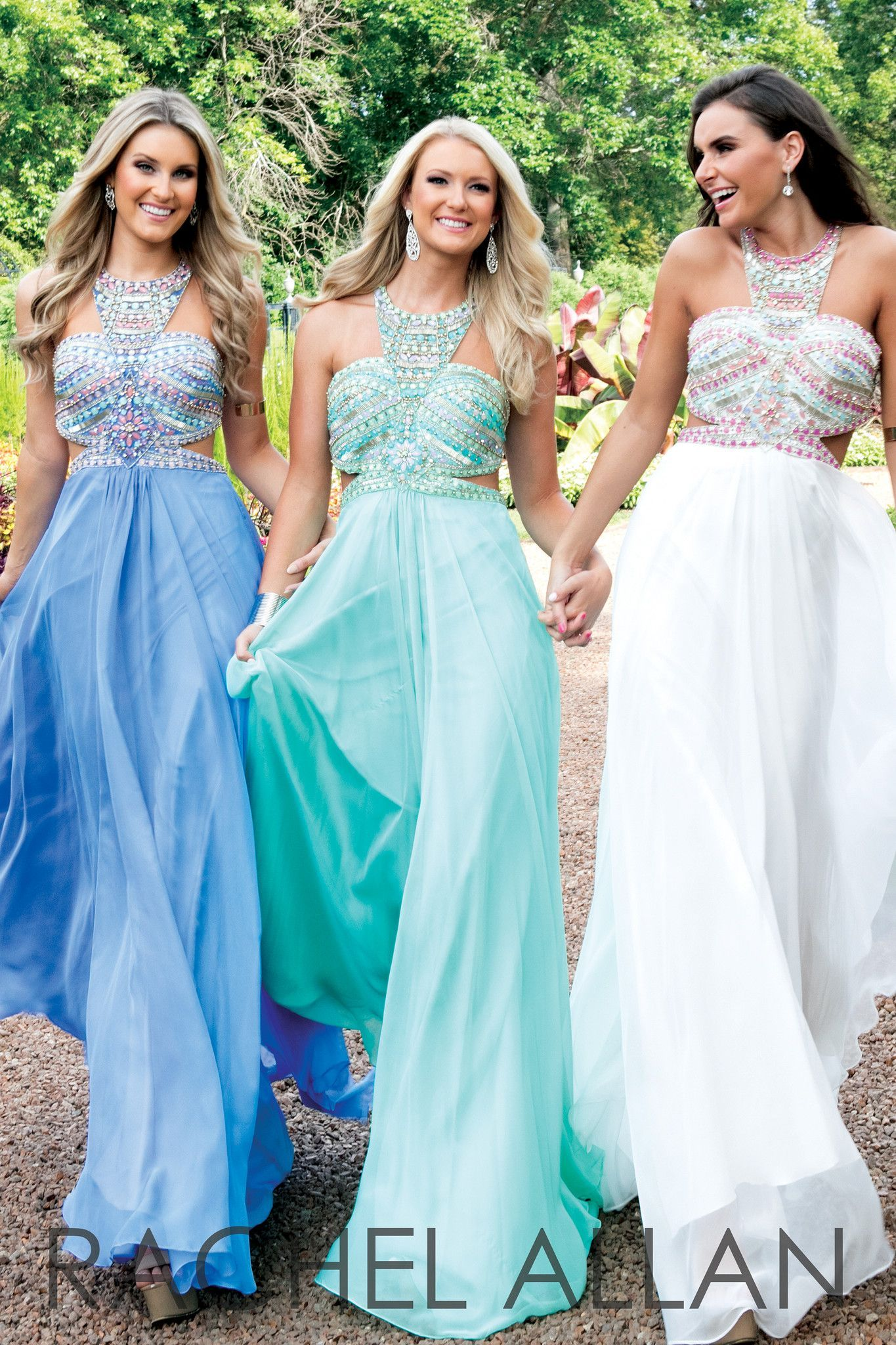This gorgeous chiffon dress 7119 features contrasting stones on the ...