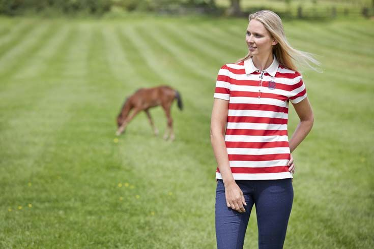 NEW from Toggi's SS15 collection, our model wears the Madeline polo shirt in Salsa stripe. See more colour options and styles from the NEW collection at www.Toggi.com