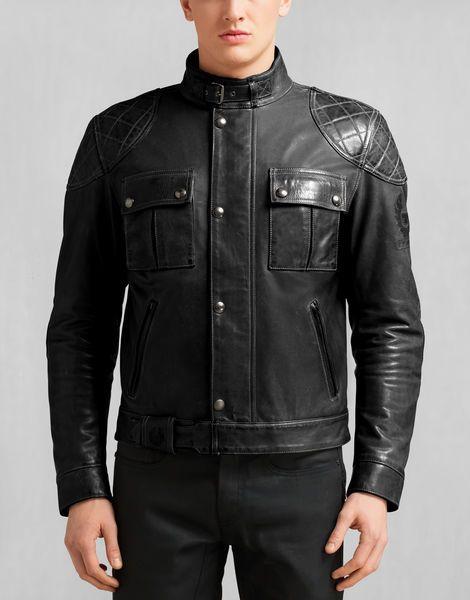 chatarra salón ocio  Brooklands Blouson - Antique Black   Leather jacket men, Leather jacket  style, Belstaff jackets