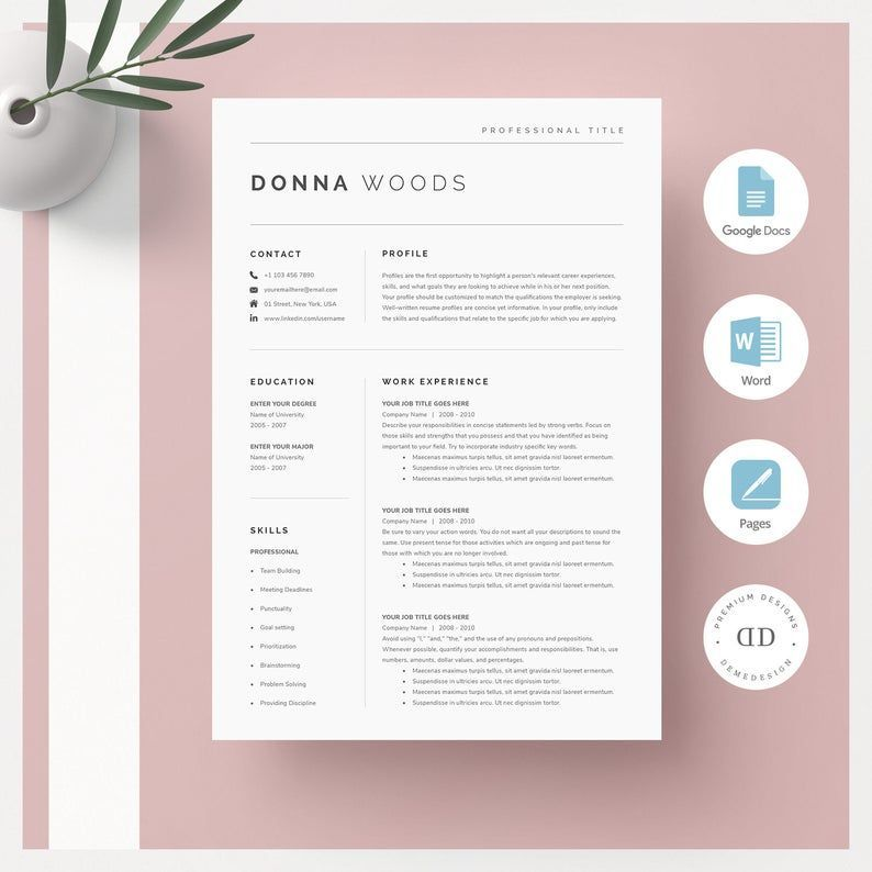 14 Modern Cv examples reference diy in 2020 One page