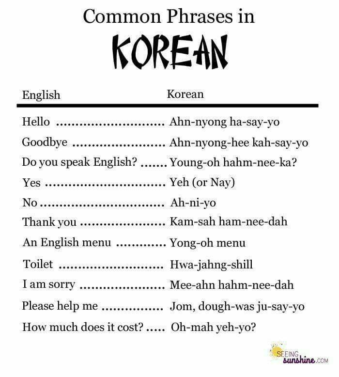 Learn To Speak Korean For Beginner Korean Words Korean Phrases Korean Language