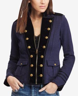 Denim & Supply Ralph Lauren Velvet Trim Military Jacket