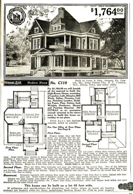 2015 September Sears Modern Homes Victorian House Plans House Blueprints Victorian Homes