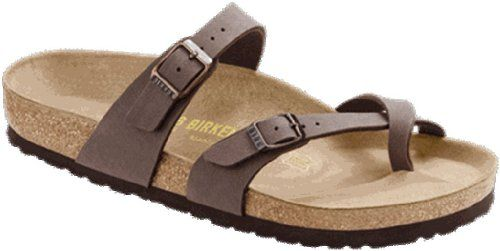 7e577861cdb0  saucy Birkenstock Women s Mayari Adjustable Toe Loop Cork Footbed Sandal  Mocha 39 M EU