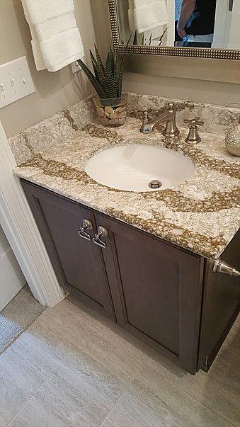 Superbe Bath Vanity Cambria Quartz Beaumont Summit Edge Wellborn Cabinet Millbrook  Maple Drift