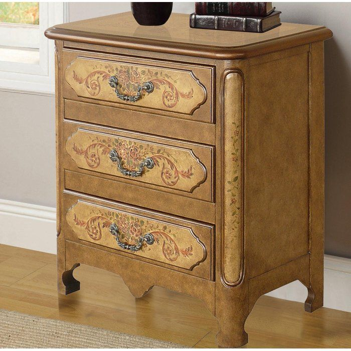 Cephas Hand Painted 3 Drawer Accent Chest   Accent chest